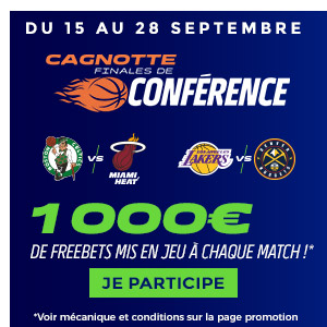 Parions Sport : 1 000€ de freebets à chaque match de NBA !